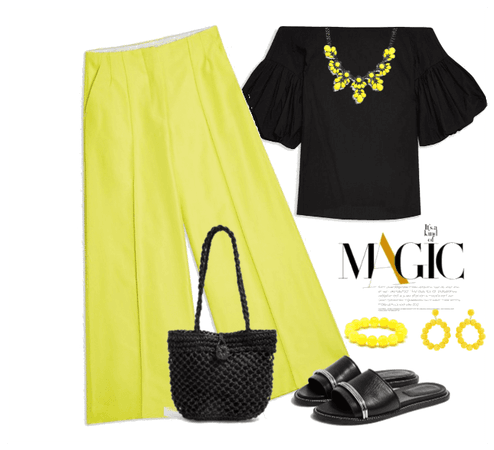 TOPSHOP- yellow trousers