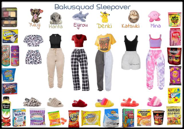 Bakusquad Sleepover