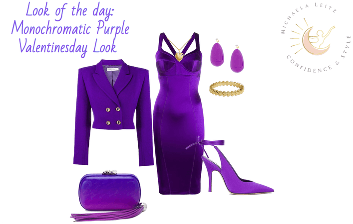 Monochromatic Purple V-days Outfit