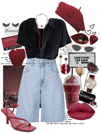 raspberry chic shorts