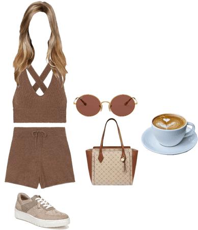 Hot Women Hot Coffee