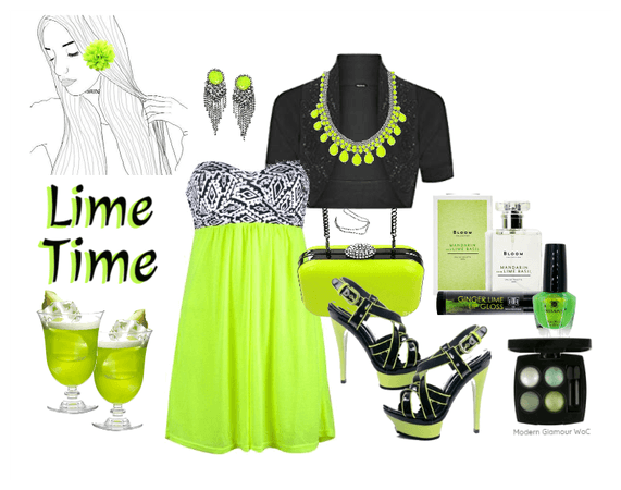 Lime Time Dress and Accessories