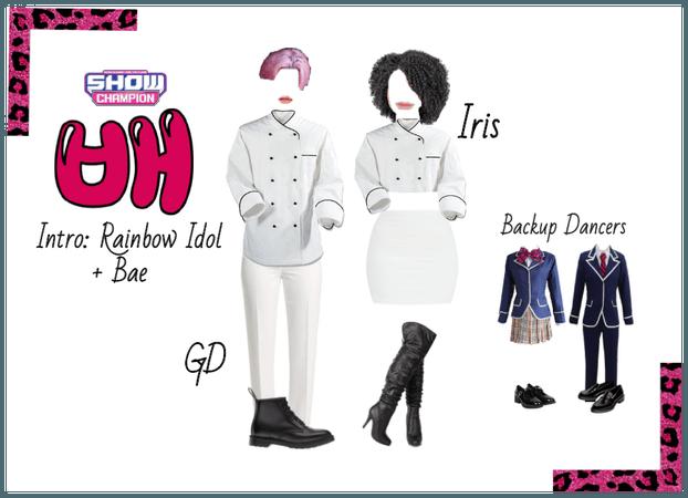 Iris and GDragon 배 (Bae) on Show Champion 8/5