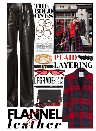 flannel & leather ❤️🖤