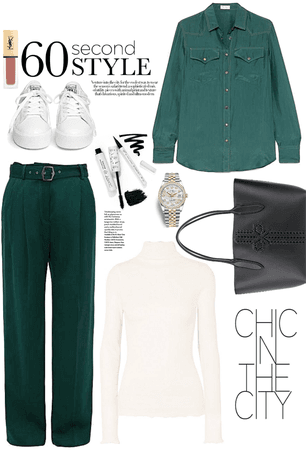 again white and green style
