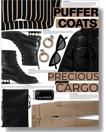 precious cargo & puffer coats