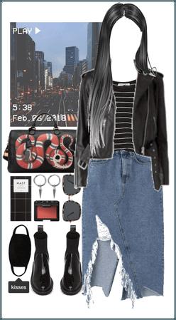 street casual look
