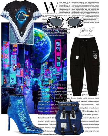 Blue & Black: Cyberpunk Aesthetic