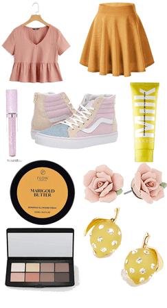 Pastel Yellow & Pink