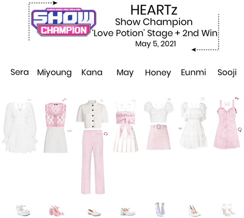 {HEARTz} 'Love Potion' Show Champion Stage + 2nd Win