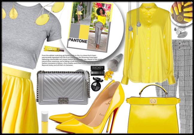 Pantone yellow and grey