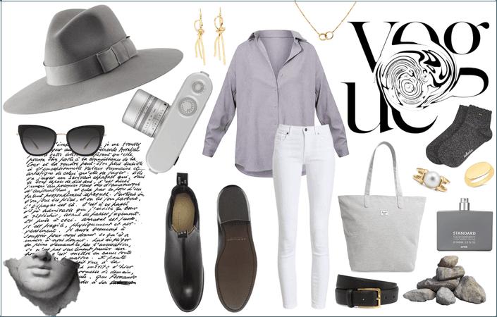 Greyscale Summer - Summer Brimmed Hat