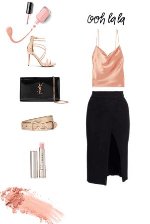 Peach silk