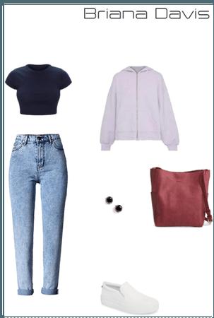 RE OC - Briana Davis outfit