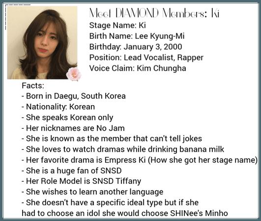 Meet the DIAMOND Members: Ki