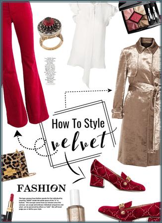 How to style Velvet/trench coat