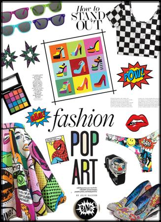 Fashion in Pop Art Style