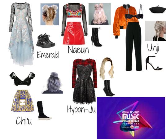 MAMA Awards Red Carpet    Fake K-Pop Girl Group ALORA