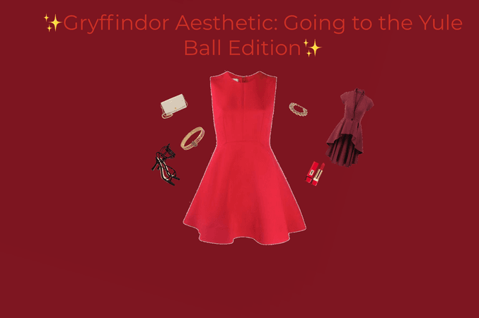 Gryffindor Outfit Aesthetic: Going to the Yule Ball