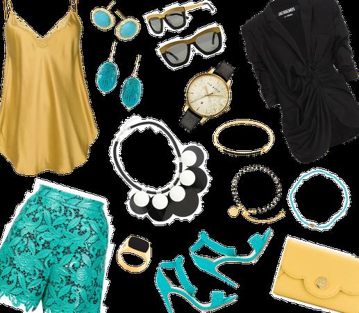 Gold, Black, & Turquoise