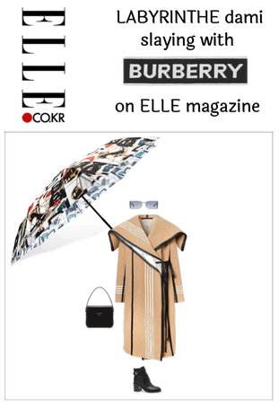 Dami's Burberry 1st outfit on ELLE magazine