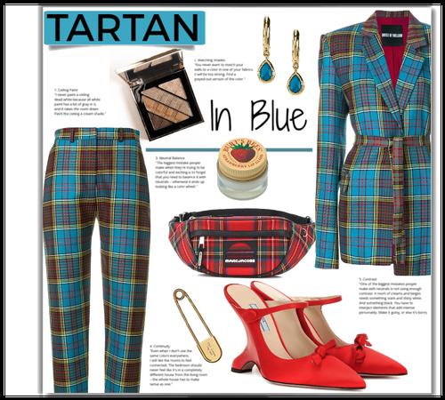 tartan in blue