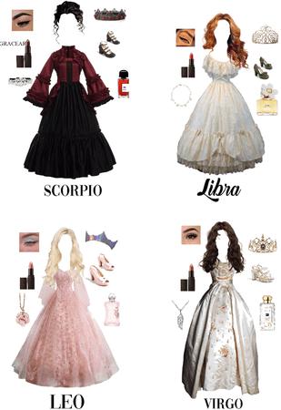 your zodiac sign as a princess
