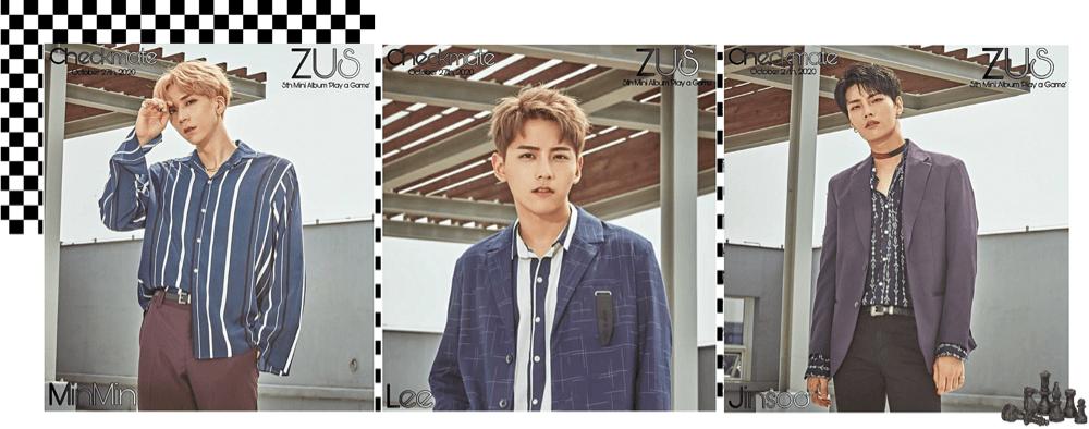 Zus// 'Checkmate' MinMin, Lee, Jinsoo Teaser Photos 'Play' Ver