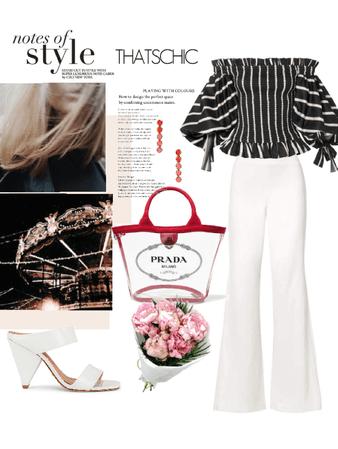 white & stripes