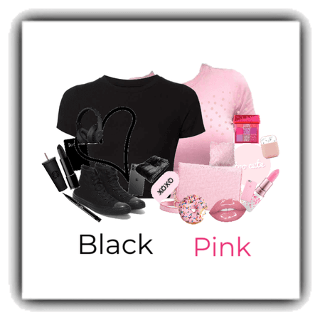 Black and pink!!