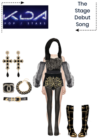Outfit Jinah#1 Debut Song(Stage debut performance)