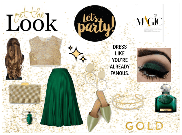 Green💚 and Gold Outfit