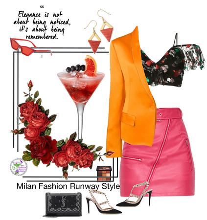Milan Fashion Runway Style
