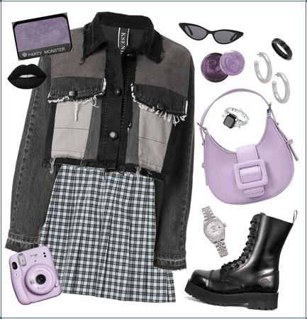 Pleated and Purple