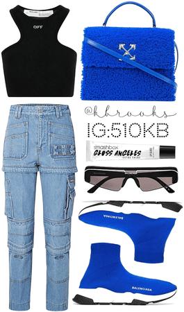 off- white & blue