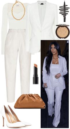 Kim Kardashian: all white