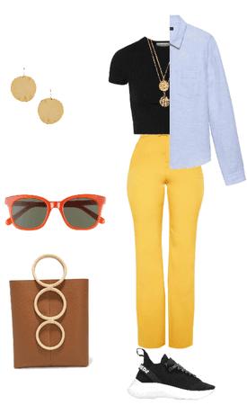 жёлтые брюки