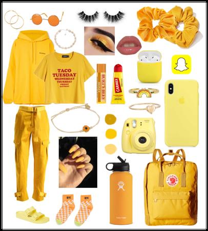 Yellow VSCO-girl!!