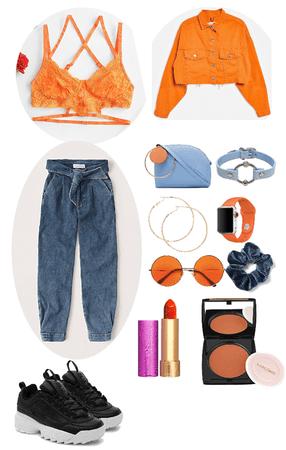 orange and blue colour