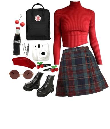 school girl aesthetic