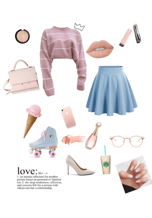 simple pastel/pale outfit