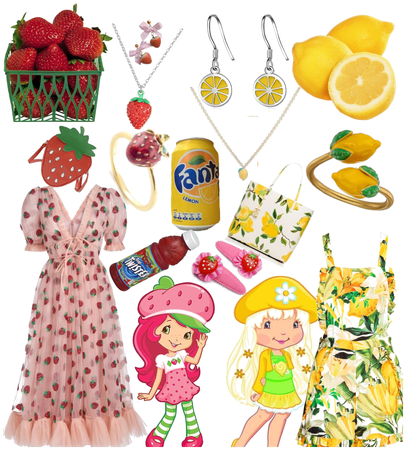 Strawberry and lemon outfit