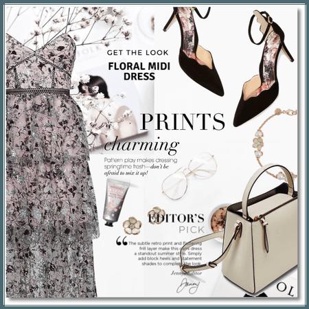 Spring Midi Dress: Prints Charming