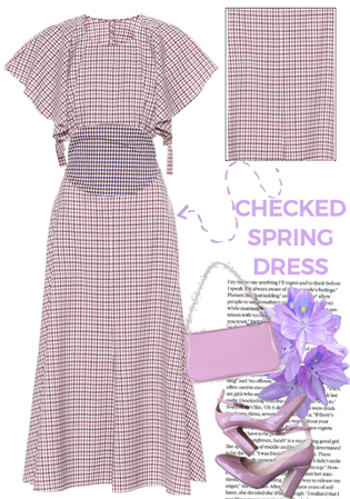 SPRING CHECKED DRESS- ROSIE ASSOULIN