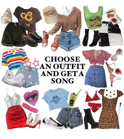 choose an outfit, get a song