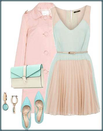 mint / pink
