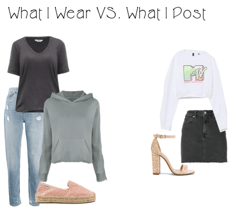 What I wear vs. What I post