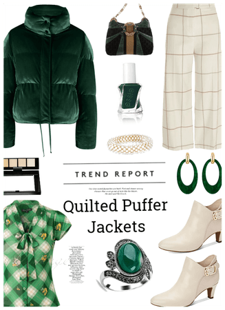 Quilted puffer jacket trend
