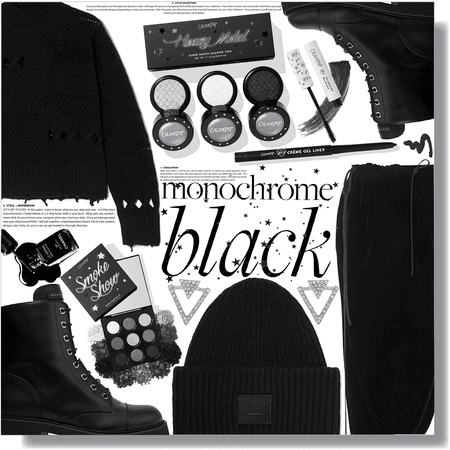 monochrome black 🖤