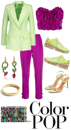 Color Block- Magenta and Lime